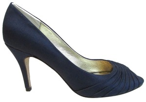 Adrianna Papell Peep Toe Satin Blue Pumps