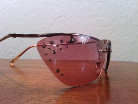 Other Pink Cat Eye Frameless Crystal Sunglasses