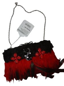 inspired by claire jane red and black Clutch