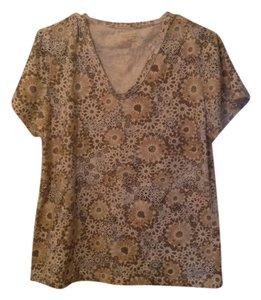 Northcrest T Shirt Tan floral