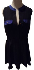 Wyatt short dress Black with blue on Tradesy