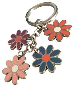 Coach flower key chain