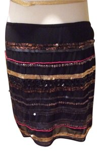 Rock & Republic Mini Skirt Black amd colorful sequins
