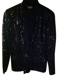 Chico's Sequined Satin Brown Jacket