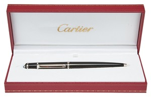 Cartier Cartier Black Diablo Ball Point Pen w/ Caboshon Detail (25070)