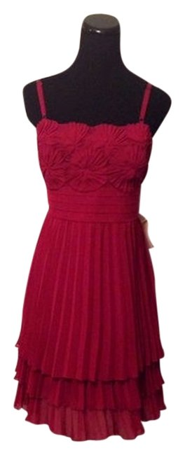 Preload https://item3.tradesy.com/images/laundry-by-shelli-segal-magenta-burgundy-red-pleated-knee-length-cocktail-dress-size-12-l-10192687-0-1.jpg?width=400&height=650