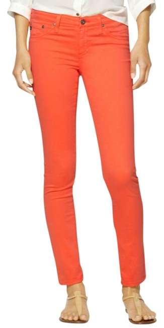 Item - Orange Light Wash Skinny Jeans Size 24 (0, XS)