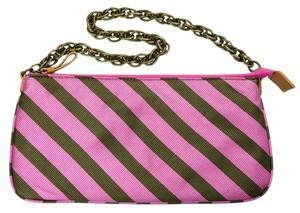 J.Crew Silk Tie Accessories Pink & Brown Clutch