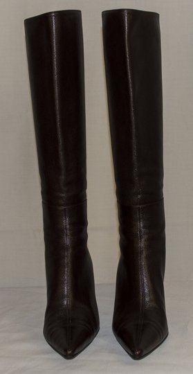 Gucci Leather Size 6 Stiletto brown Boots Image 2