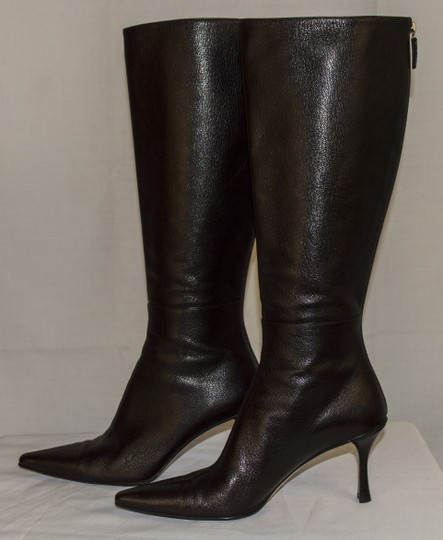 Gucci Leather Size 6 Stiletto brown Boots Image 3