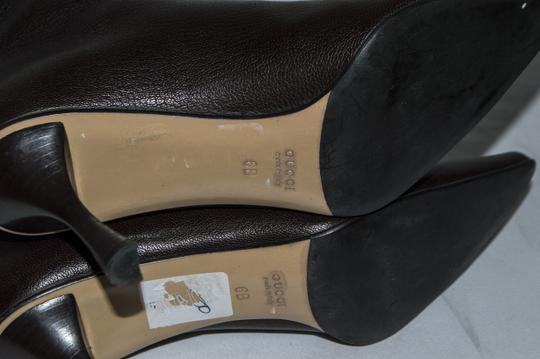 Gucci Leather Size 6 Stiletto brown Boots Image 4