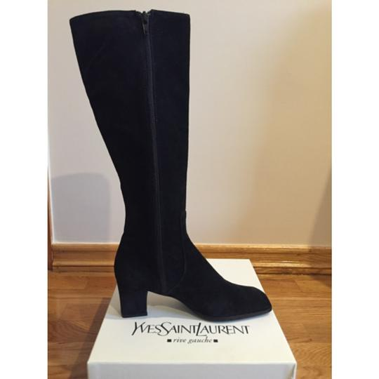 Saint Laurent Knee High Black Suede Boots Image 1