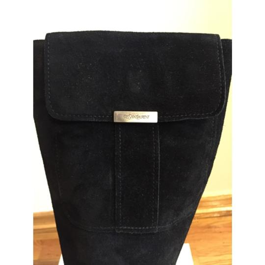 Saint Laurent Knee High Black Suede Boots Image 2