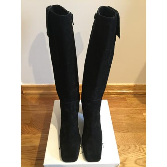 Saint Laurent Knee High Black Suede Boots Image 3