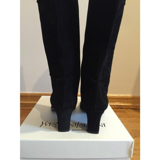 Saint Laurent Knee High Black Suede Boots Image 4