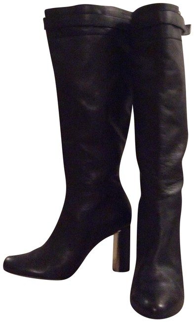 Ann Taylor Black Knee High Leather Boots/Booties Size US 9 Regular (M, B) Ann Taylor Black Knee High Leather Boots/Booties Size US 9 Regular (M, B) Image 1