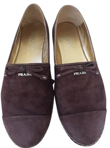 Prada brown suede Flats