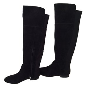 Banana Republic Suede Over-the-knee Knee-high Black Boots