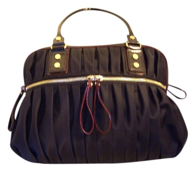 Item - Black with Pink Satin Lining & Leather Satchel