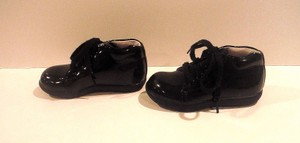 Other Like NEW Stride Rite Black Patent Booties Toddler Sz 6 M Jamie II