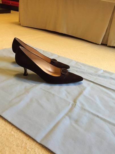Manolo Blahnik Chocolate brown Pumps