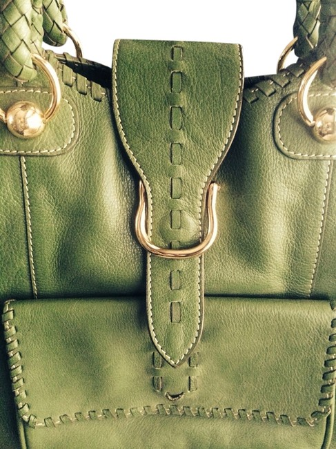 Item - Leather Satchel Leather Tote Emerald Green Cross Body Bag