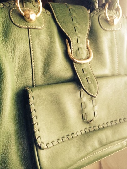 Maxx New York Leather Satchel Leather Tote Cross Body Bag