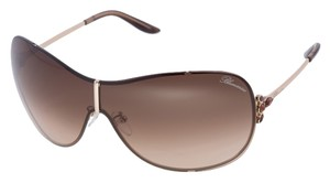 Blumarine New Blumarine SBM 039 Brown Shield Rimless Mask Sunglasses Italy