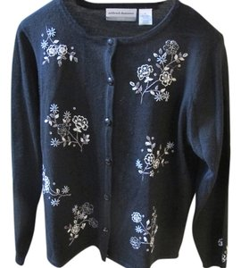 Alfred Dunner Embroidered Embellished Cardigan