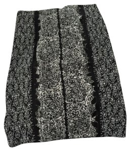 Anthroplogie Cut and See Skirt Black and White Top Black and White Pencil Skirt
