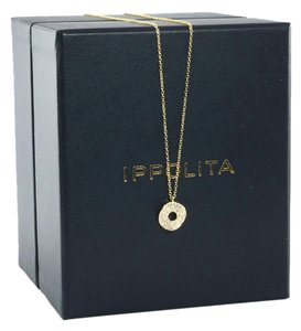 Ippolita Ippolita 18K Yellow Gold Wavy Diamond Disc Stardust Pendant Necklace Chain