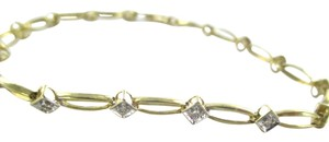 Other 10KT SOLID YELLOW BRACELET BANGLE 10 DIAMOND .20 CARAT 3.4 GRAMS NO SCRAP JEWEL