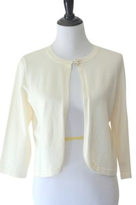 Ann Taylor Holiday Shrug Fancy Top Ivory