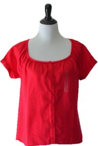 Gap Short Sleeve New Top Pink/red