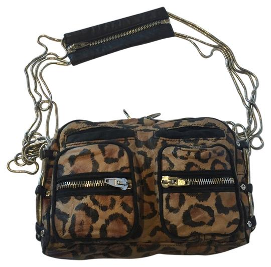 Alexander Wang Animal Print Zippers Pockets Leopard Chain Shoulder Bag Image 0