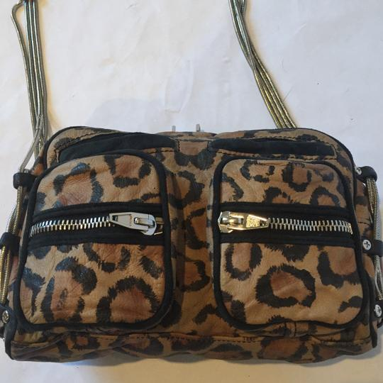 Alexander Wang Animal Print Zippers Pockets Leopard Chain Shoulder Bag Image 1