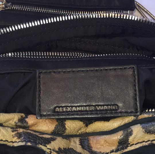 Alexander Wang Animal Print Zippers Pockets Leopard Chain Shoulder Bag Image 10