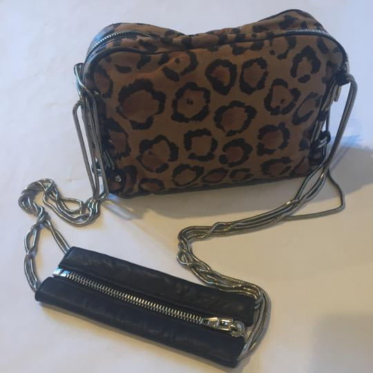Alexander Wang Animal Print Zippers Pockets Leopard Chain Shoulder Bag Image 3