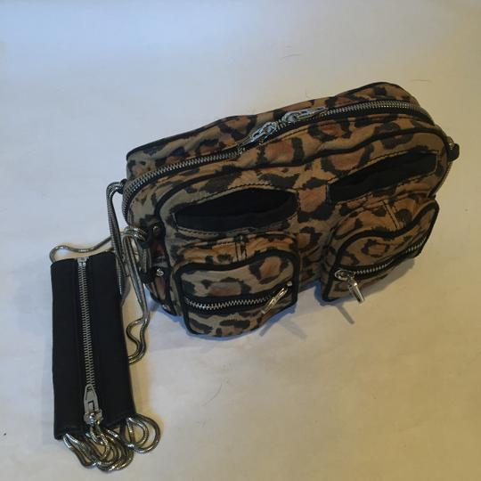 Alexander Wang Animal Print Zippers Pockets Leopard Chain Shoulder Bag Image 7