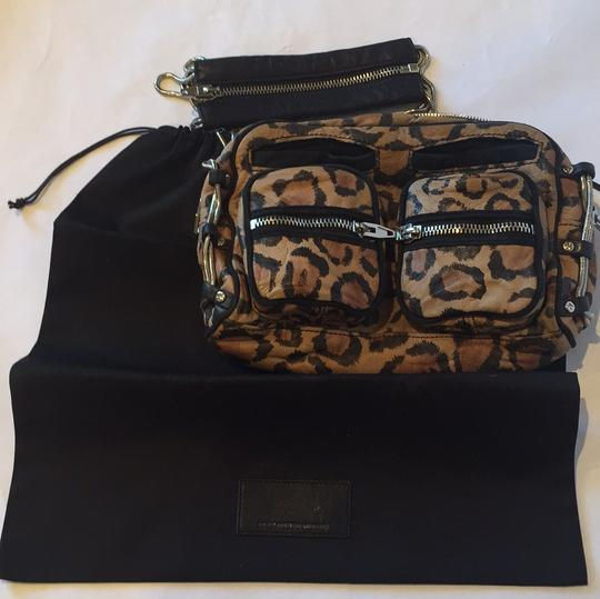 Alexander Wang Animal Print Zippers Pockets Leopard Chain Shoulder Bag Image 9