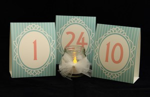 Retro Table Numbers 1 Through 24 - Weddings Banquets Events