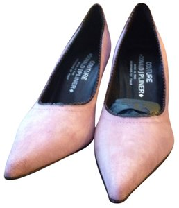 Donald J. Pliner Suede Italy Leather Trim Jewel Studded Mauve Pumps
