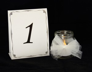 Black and White Table Numbers 1 Through 24 For Banquets Events. Reception Decoration