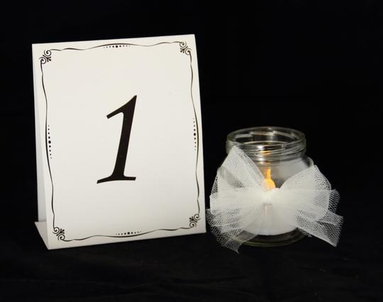 Black And White Table Numbers 1 Through 24 For Weddings Receptions Banquets Events.