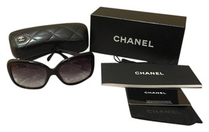 Chanel Chanel Oversized Black Square Bow Tie Sunglasses