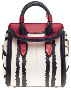 Alexander McQueen Python Tote in White and Black