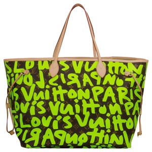 Louis Vuitton Neverfull Graffiti Monogram Shoulder Bag