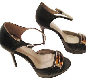 Calvin Klein Sandal Peep Toe Pump Tortoise black leather/tortoise Sandals