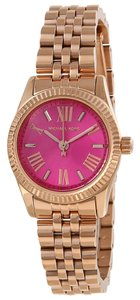 Michael Kors Michael Kors Lexington MK3285 Rose Gold Tone Stainless Pink Dial Watch