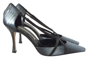 Manolo Blahnik Ombre Grey Pumps